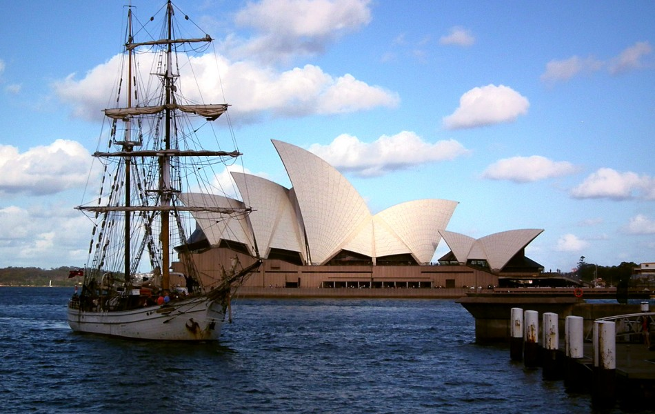 Opera House and old ship